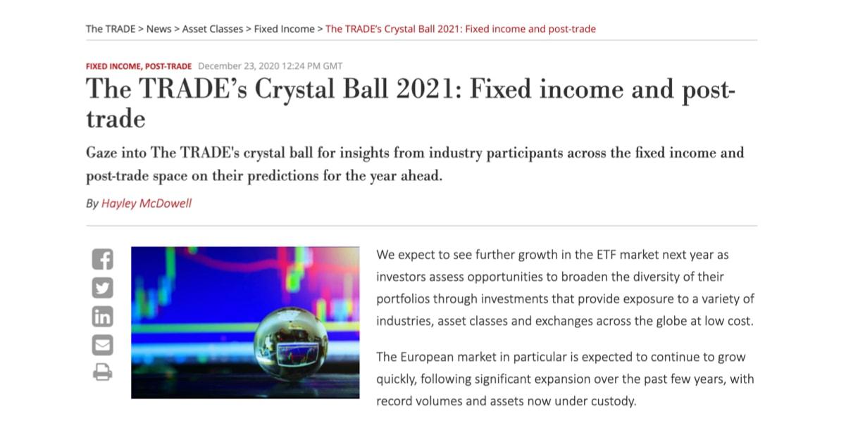 The Trade predictions 1
